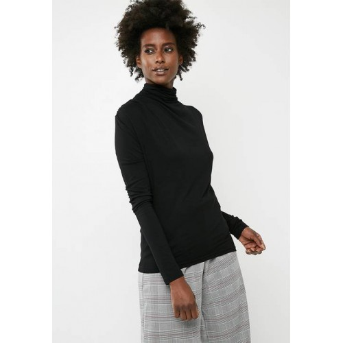 Vero Moda Women Glee waterfall longsleeve top - black Black EFBAXXS