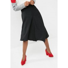 dailyfriday Women Asymetric midi skirt - black Black LVZFDVO