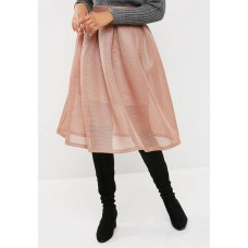 dailyfriday Women Bonded airtech pleated midi skirt Copper OGAKKME