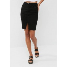 dailyfriday Women Denim pencil skirt Black VQILKGN