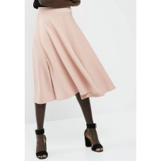 dailyfriday Women Full midi scuba skirt Pale Pink ICUJCKP