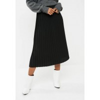 dailyfriday Women Pleat midi skirt - black Black JQHQBDD