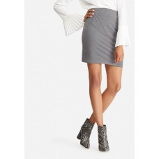 dailyfriday Women Pull on mini skirt Grey melange AIYKDKF
