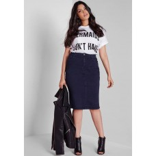 Missguided Women Plus size supersoft tube skirt Indigo HNJIMKV