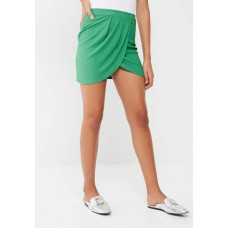 Missguided Women Wrap mini skirt Green ZBULNXM