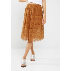New Look Women Lace midi skirt Dark Mustard QOQVILN