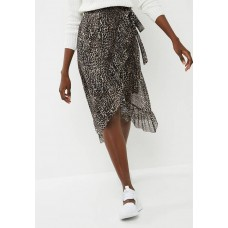 Pieces Women Lulu mesh midi skirt - black & brown Black & Brown KKFHKUQ