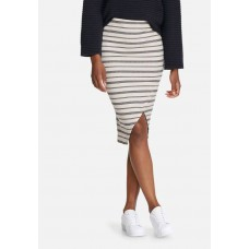 Vero Moda Women Tammi rib skirt Cream & Navy KCNTTKE
